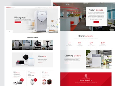Cuckoo: homepage design concept