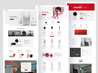 Cuckoo: website design pages