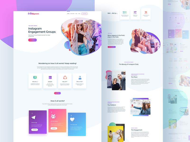 FreshEngagements: Homepage Design by Naresh Kumar on Dribbble