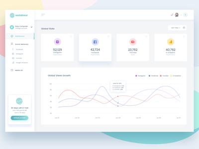 Socialneur: Dashboard Design Concept