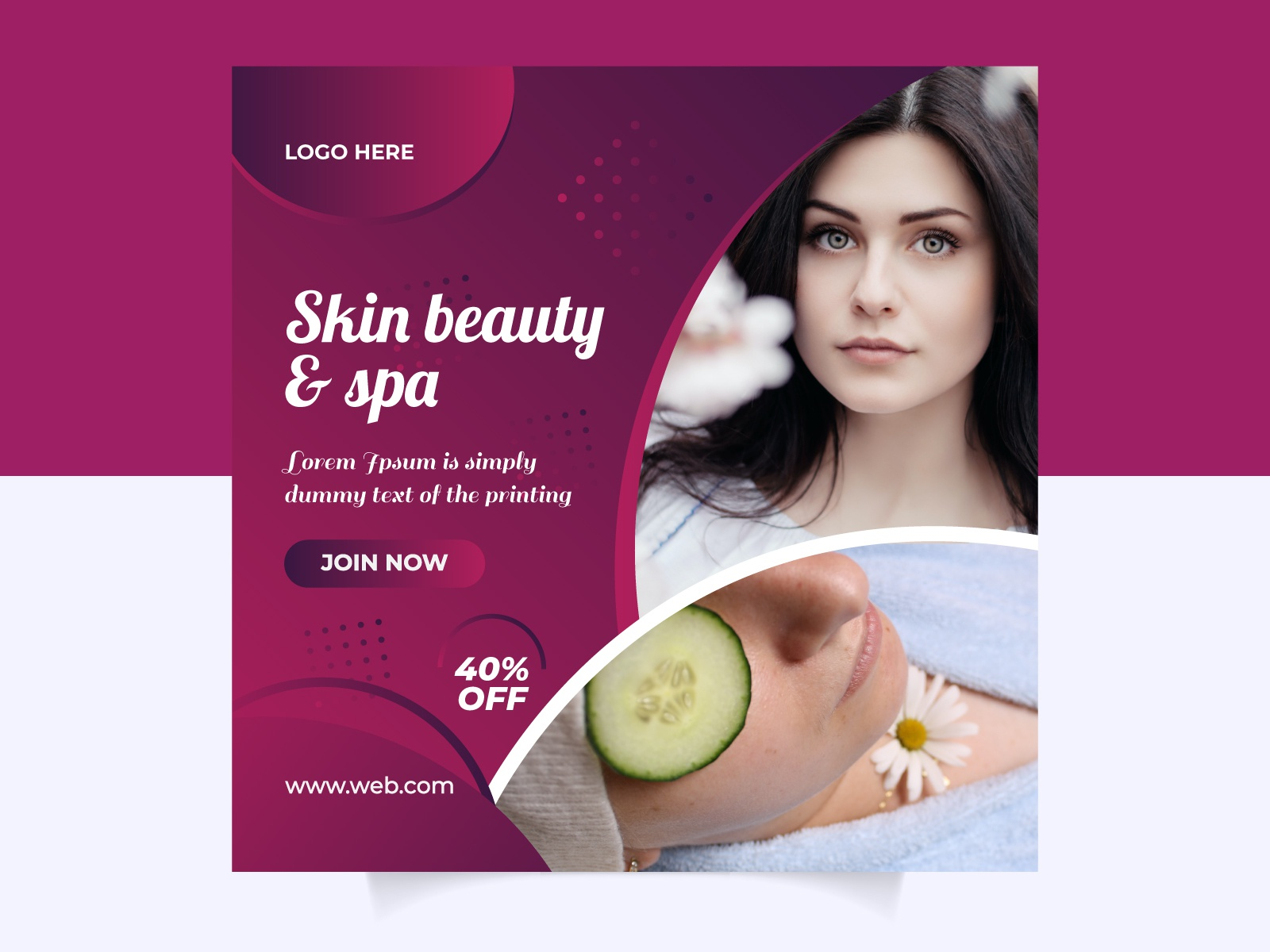 Beauty And Spa Social Media Ads Post Template Design By Aybor Rahman On Dribbble