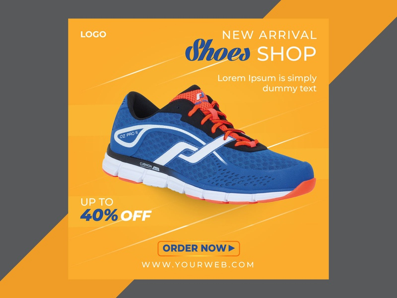 Sport shoes product Social media banner post template sport shoe instagram stories post banner social media template social media post social media banner template social media post social media banner
