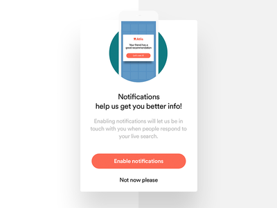 Atlis - Notifications Modal ux ui mobile alert modal type grid color app product
