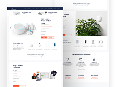 Nest with LiveWatch Monitoring - Product Page website web ui ux protect home security design product