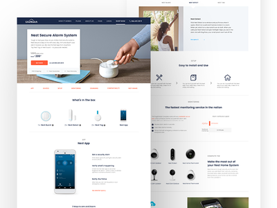 Nest with LiveWatch Monitoring - Product Page Exploration website web ui ux protect home security design product