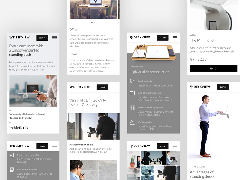DeskView On The Go shopify mobile design mobile development mobile minimal grid clean lightweight typography type layout ui web ux design