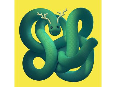 Tangled Serpent - The Practice 179 3d character rendering character 3d diligence cinema 4d c4d illustration stuart wade 3d illustration