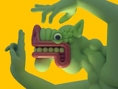 Self Portrait, April 2020 rendering c4d 3d cinema 4d 3d illustration character design illustration character