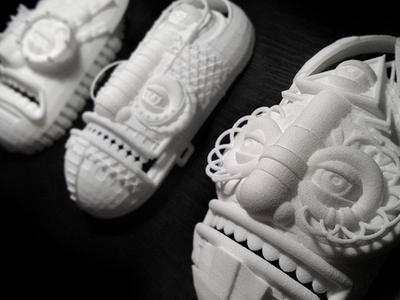 3d printed masks stuart wade diligence masks 3d prints tribal native faces patterns
