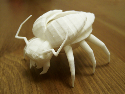 Low poly 3d printed insect