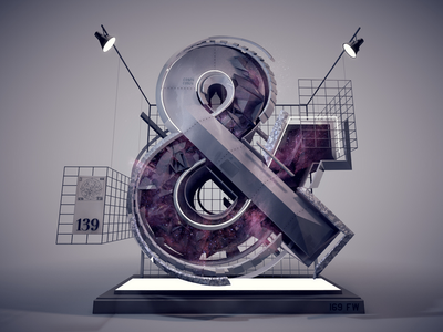 Ampersand 139 stuart wade diligence ampersand typography type 3d text cinema 4d