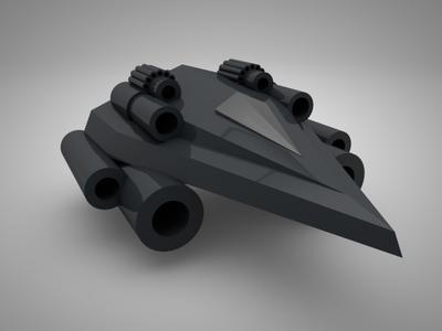 Futuristic Tank: WIP