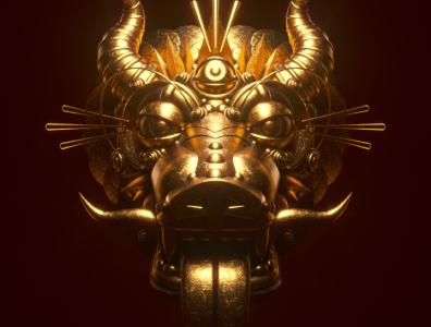 Mask 3d character 3d diligence stuart wade gold 3d illustration illustration render c4d cinema 4d octane rendering mask