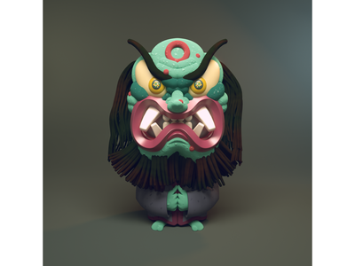 Creature from a dream the other night rendering diligence stuart wade mask octane c4d cinema 4d 3d illustration 3d character character design illustration 3d character