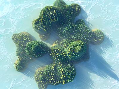 Procedurally Generated Forest Island 3d low poly 3d landscape island landscape rendering diligence cinema 4d c4d illustration 3d illustration stuart wade