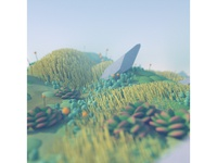 Procedurally Generated Landscape stuart wade illustration art nature octane diligence c4d render cinema 4d succulents plants environment 3d landscape illustration
