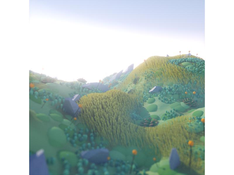 Procedural Landscape dlgnce octane render succulent nature landscape plants octane 3d cinema 4d c4d illustration 3d illustration stuart wade
