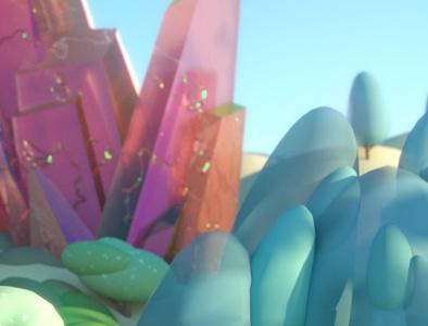 Fantasy - Detail Shot rendering fantasy landscape illustration crystal trees landscape stuart wade 3d cinema 4d c4d illustration 3d illustration