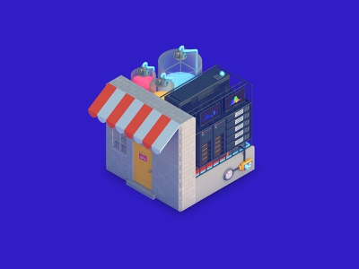 Streamr Digital Brand Illustrations: Marketplace cryptocurrency crypto 3d icon design 3d icon icon marketplace data eth dlgnce diligence 3d cinema 4d c4d stuart wade illustration 3d illustration