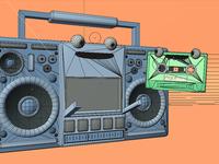 Boombox n' cassette