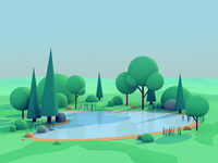 Lake Scene Process Video