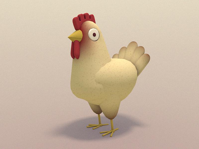 Днем рождения, картинка анимация курицы