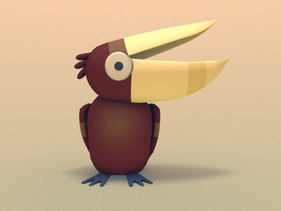 PELICAN! (or something) digital art bird illustration character design 3d animation 3d illustration cinema 4d animated gif gif bird illustration stuart wade