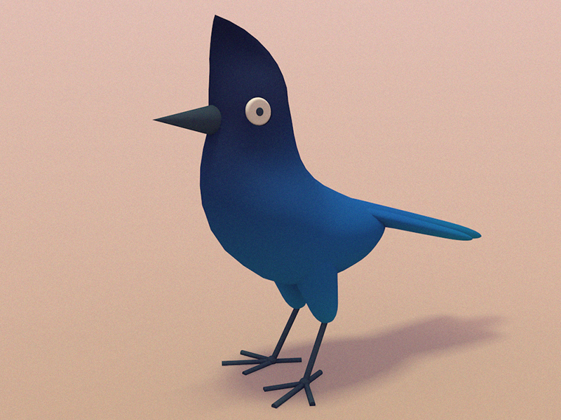 BLUE JAY! digital art bird illustration character design 3d animation 3d illustration cinema 4d animated gif gif bird illustration stuart wade