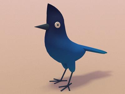 BLUE JAY! digital art bird illustration character design 3d animation 3d illustration cinema 4d animated gif gif bird illustration stuart wade
