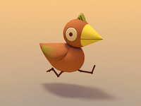 BIRDIE!  digital art bird illustration character design 3d animation 3d illustration cinema 4d animated gif gif bird illustration stuart wade