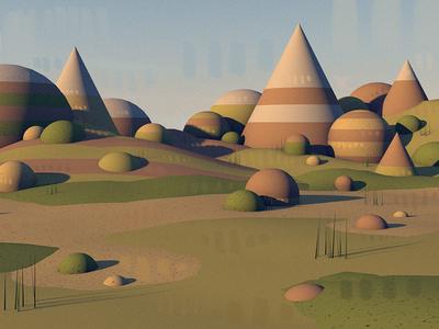 Landscape modeling and digital painting