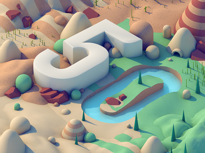 Episode 50!! isometric environment landscape 3d vlog video podcast screencast podcast the practice episode 50 typography 50