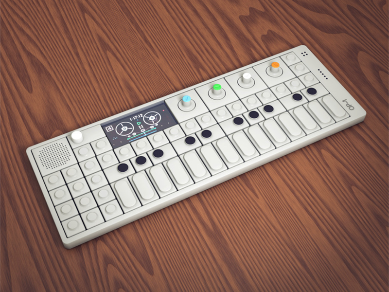 Teenage Engineering OP-1 Synthesizer process ui buttons synth op1 op-1 hard surface modeling synthesizer 3d illustration cinema 4d illustration 3d