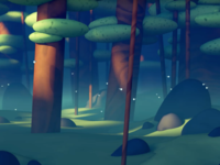 Foggy Firefly Forest