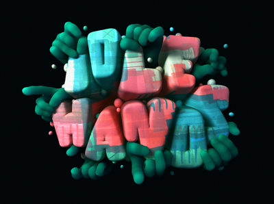 IDLE HANDS: Typography Experiment typography type illustration type stuart wade lettering illustration idle hands hands dlgnce diligence studio cinema 4d c4d 3d typography 3d lettering 3d illustration 3d