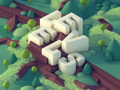 LEVELS - Process video included type illustration type lettering landscape level geometric illustration environment 3d type 3d lettering 3d landscape 3d illustration 3d environment 3d
