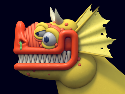 Smiling Demon dlgnce 3d modeling modeling character design creature design dragon monster 3d character cinema 4d 3d illustration illustration 3d creature character demon
