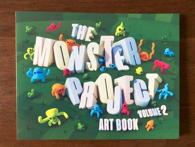 The Monster Project Art Book v2 Cover cinema 4d 3d book cover design the monster project book cover illustration character design 3d typography 3d type 3d lettering 3d illustration cover illustration book cover