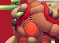 Detail - 3d Rendering w 2d Paint over