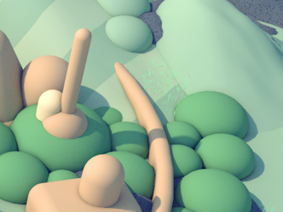 Illustration detail low poly 3d diligence c4d cinema 4d bubble landscape detail illustration 3d illustration stuart wade