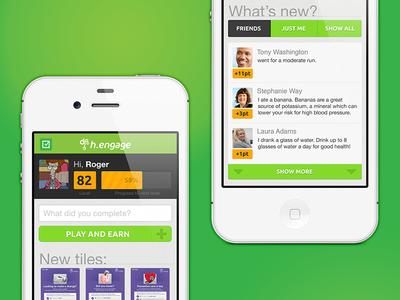 Mobile web app mock