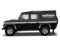 Outhaus Logo on Land Rover
