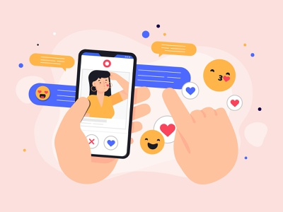 Datting app dating app datingapp app illustration ui freebie character character design vector illustration 2d art flat