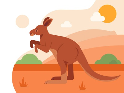 Welcome to Australia app illustration landing page freebie ui vector illustration 2d art flat