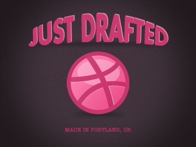 Dribbble debut drafted