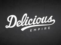 Script Logo for Delicious Empire