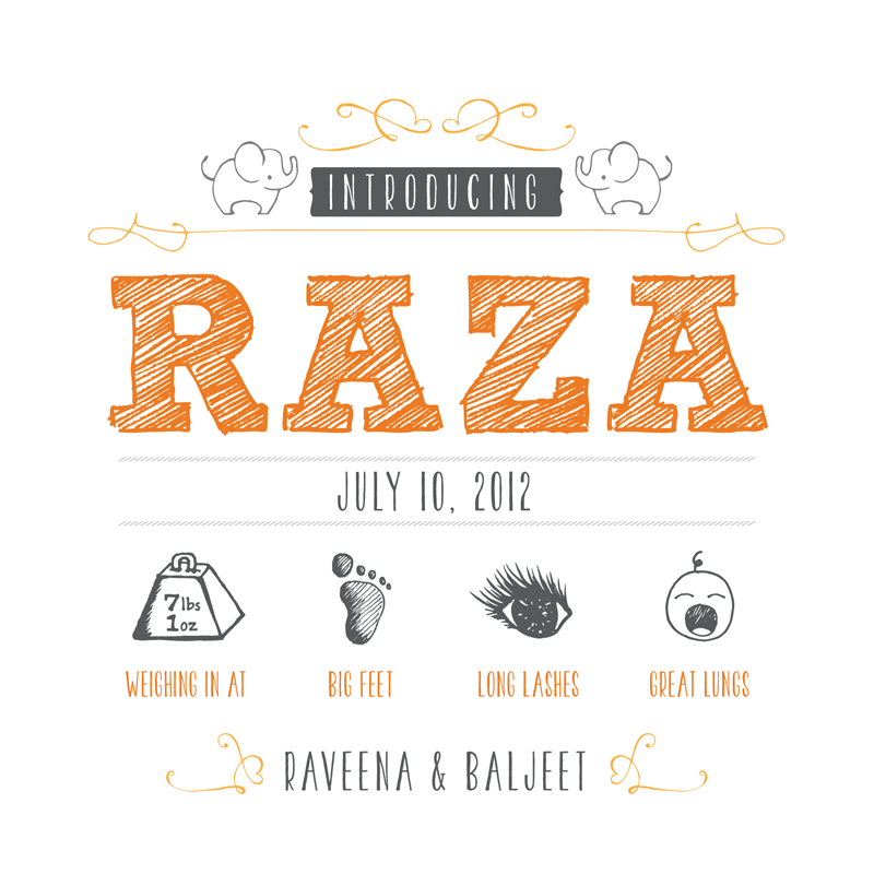 Raza announcement