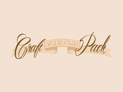Craft Your Own Pack Branding