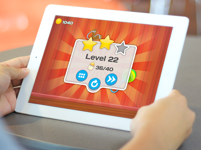 Clumsy Kids game score screen  tablet ux ui illustration vector ipad iphone android ios game app design