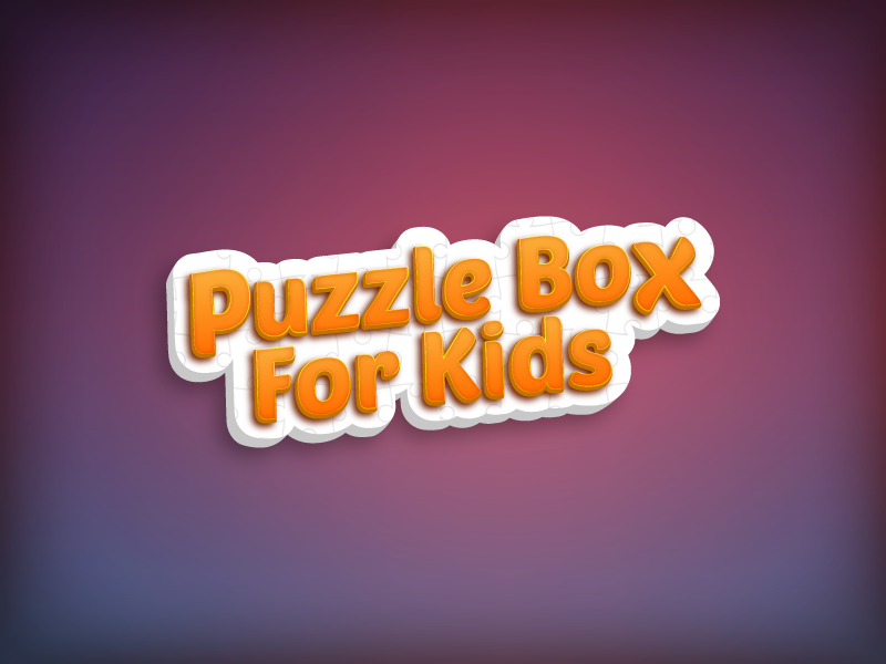 Puzzle Box For Kids typograpgy caligraphy type lettering logo iphone illustration font art game vector design